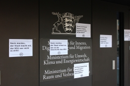 Schilder beim Innenministerium