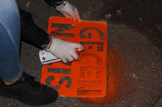Gegen Nazi Stencil