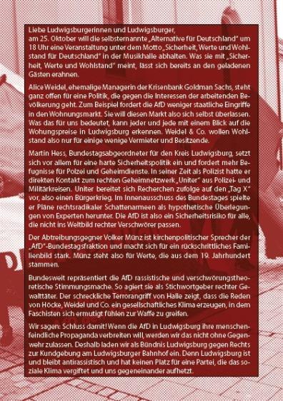 Ludwigsburg Flyer hinten