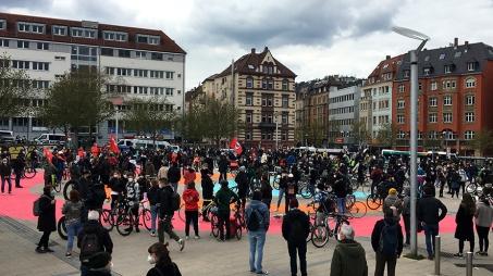 Kundgebung auf dem Marienplatz